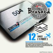 "Brushed Finish Polyester Vinyl - FDC 2801 - 12"" x 24"" Sheet"