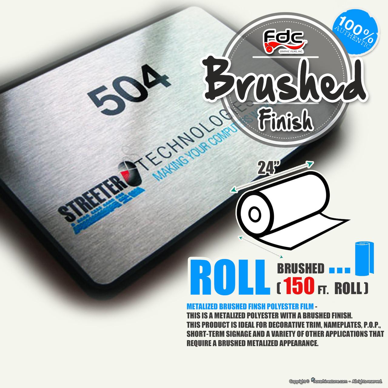 Brushed Finish Polyester Vinyl - FDC 2801 - 24