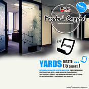 "Frosted Crystal Vinyl - FDC 3804 - 24"" wide BY YARD"