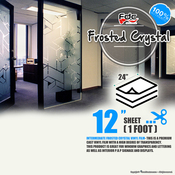 "Frosted Crystal Vinyl - FDC 3804 - 12"" x 24"" Sheet"
