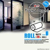 "Frosted Crystal Vinyl - FDC 3804 - 24"" wide 30 FEET ROLL"