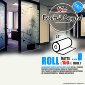 "Frosted Crystal Vinyl - FDC 3804 - 24"" x 150ft"