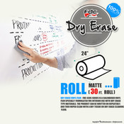 "Dry Erase Vinyl - FDC 4305 - 24"" wide 30 FEET ROLL"