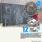 "Chalk Board Vinyl - FDC 4308 - 12"" x 24"" Sheet"