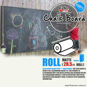 "Chalk Board Vinyl - FDC 4308 - 24"" wide 20.5 FEET ROLL"