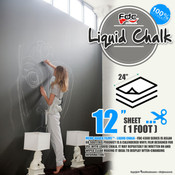 "Liquid Chalk Board Vinyl - FDC 4308 - 12"" x 24"" Sheet"