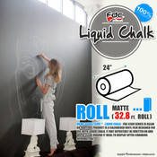 "Liquid Chalk Board Vinyl - FDC 4308 - 24"" wide 32.8 FEET ROLL"