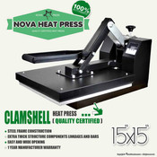 "NOVA 15""x15"" High Pressure CLAMSHELL Heat Press"