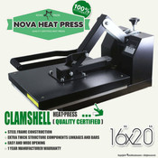 "NOVA 16""x20"" High Pressure CLAMSHELL Heat Press"