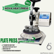 "NOVA PLATE Heat Press Machine - 6"" Diameter"