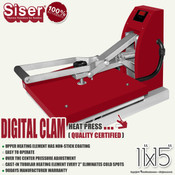 "SISER 11""x15"" DIGITAL CLAM Heat Press"