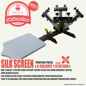 NOVA SILK SCREEN PRESS - 4 Colors 1 Station