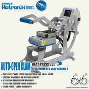 "STAHLS' Hotronix® AUTO OPEN CLAM Heat Press 6""x6"""