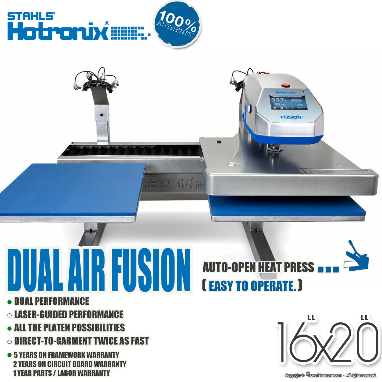 STAHLS' Hotronix® DUAL AIR FUSION™ Heat Press with LASER 16
