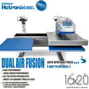 "STAHLS' Hotronix® DUAL AIR FUSION™ Heat Press with LASER 16""x20"""