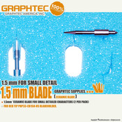 GRAPHTEC Vinyl Cutters 1.5mm Blade for Small Detailed Characters