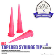 Red Tapered Syringe Tip - Pack of 3ea