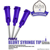 Purple Blunt Syringe Tip - Pack of 3ea
