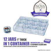 "12 Jars in 1 Container - 1"" Thick"