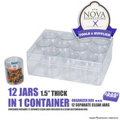 "12 Jars in 1 Container - 1.5"" Thick"