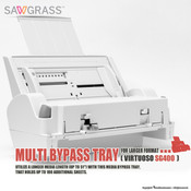 "Sawgrass Virtuoso SG400, SG500 Multi BYPASS TRAY for Larger Format (8.5""x51"")"