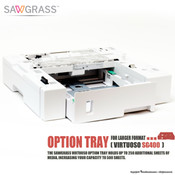 Sawgrass Virtuoso SG400, SG500 OPTION TRAY