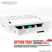 Sawgrass Virtuoso SG800, SG1000 OPTION TRAY