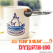 DyeSub-100 - A3 Size / Pack of 100 Sheets