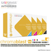 Sawgrass ChromaBlast HD Sublimation Ink Cartridges for SG400 / SG800