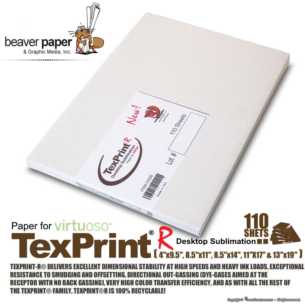 TexPrintR Sublimation Paper 8.5 x 11 110 Sheet Pack