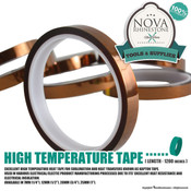 "High Temperature Tape - 1/4"", 1/2"", 3/4"", and 1"""