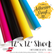 "ORACAL 651 Gloss, Crafting Adhesive Vinyl -  12"" x 12"" Sheet"