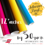 "ORACAL 651 Gloss, Crafting Adhesive Vinyl -  12"" x 50 Yards"