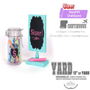 "Siser EasyPSV - CHALKBOARD Removable Adhesive Vinyl - 12"" wide BY YARD"