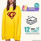 """Siser Glitter - 12"""" x 12"""" Sheet"""