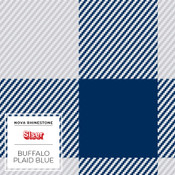 "Siser EasyPatterns 2 - 12"" wide - Buffalo Plaid Blue"