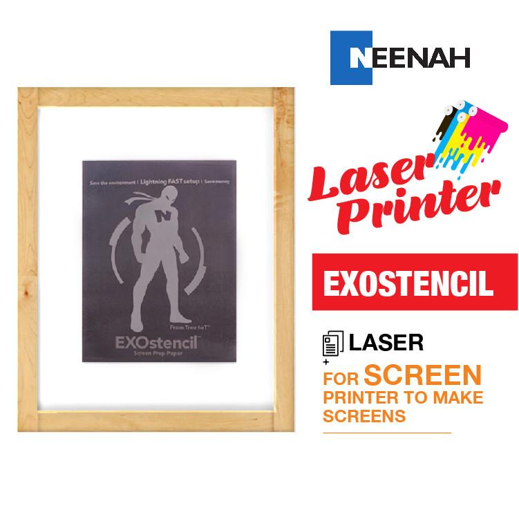 photograph relating to Laser Printable Heat Transfer Vinyl named Exostencil Show Prep - Laser Warmth Move Printer