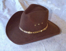 Hat, tycoon style brown