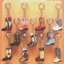 Key ring cowboy boot