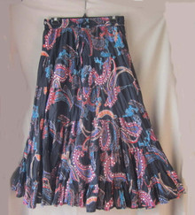 Skirt sequined broomstick black and multi