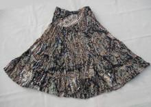 "Skirt sequined broomstick 26"" black/khaki"