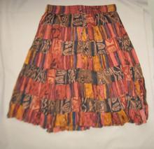 Skirt mini broomstick earthtones