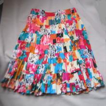 Skirt mini broomstick patchwork beige/multi