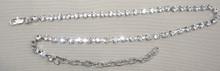 Boot bracelet crystal single row