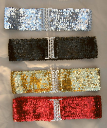 Stretch belt sequin