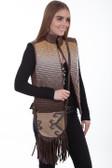 Woven cotton/wool blend handbag