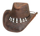 Croc Dundee Crock Teeth Hat - The Spiffy Hat Chocolate