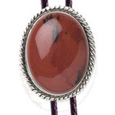 RED JASPER  BOLO TIE ROPE DESIGN MOUNTING