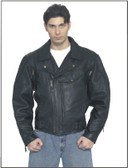 Mens Braided Pisto Pete Motorcycle Jacket