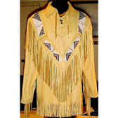 GERONIMO'S WAR SHIRT LAMBSKIN BEADWORK HAND MADE